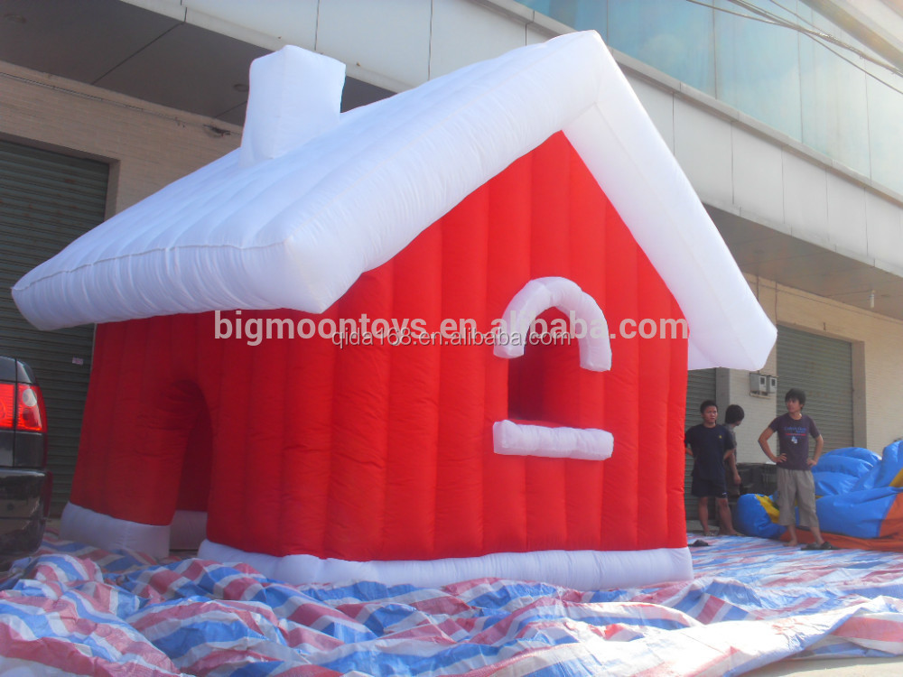 Chinese giant inflatable santa claus/christmas products for great race