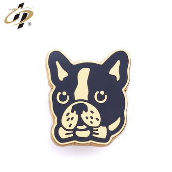 Shuanghua metal crafts manufacturer supply soft enamel dog cute lapel pin