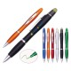 Metal clip multi-functional plastic ball pen stylus key ring pen with highlighter for advertising