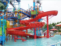 Beautiful water park projects water slide giant