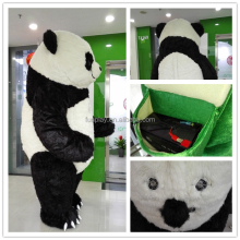 HI CE 3 meters high inflatable panda mascot costume for adult,animal inflatable mascot costume for hot selling