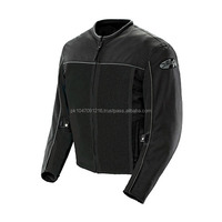 Mens Black Mesh Motorcycle Jacket w/ Quilted Lining & Chest YKK Zipper Pocket - High Quality fresh Cordura