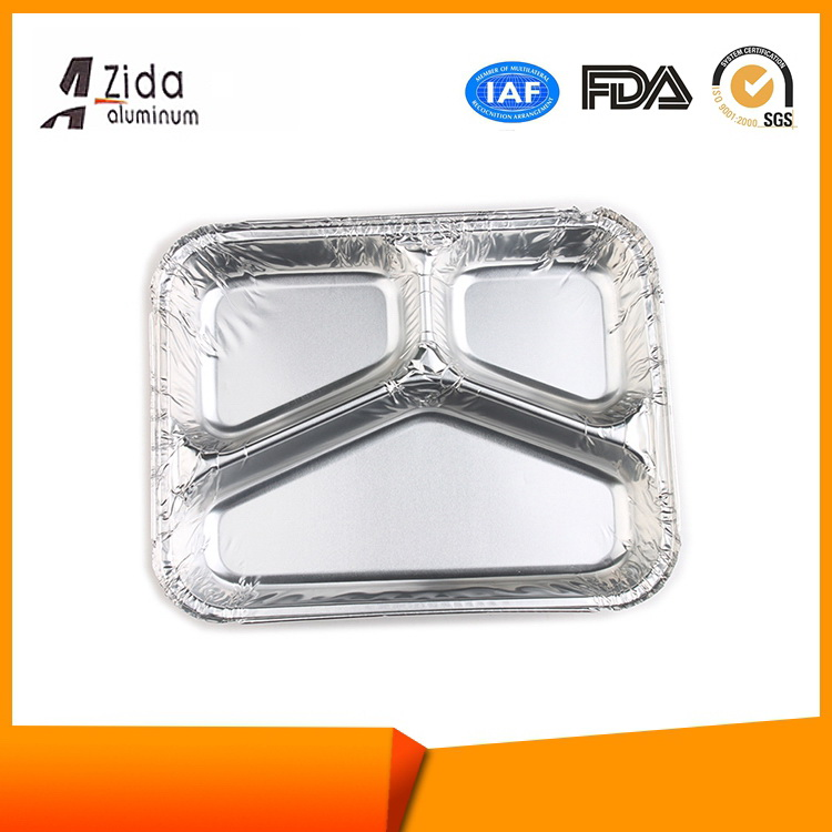 New style promotional aluminum foil container with paper lid