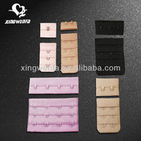 Nylon or polyester bra hook and eye tape
