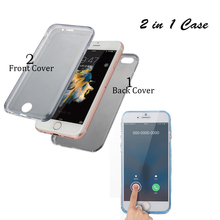 Ultra thin 360 degrees soft tpu full cover for iphone 4 crystal clear phone case