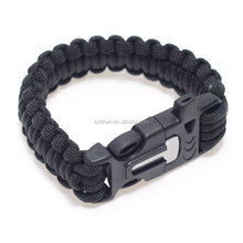 DIHAO 2016 new military survival kits 550 paracord bracelet most popular outdoor equipment for sale
