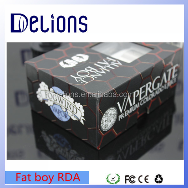Delions 2016 wholesale Rebuildable Alliance Fat Boy RDA 46mm Diameter with fast shipping