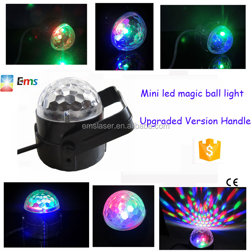 Cheap selling RGB led mini crystal magic ball light Christmas disco party magic ball light