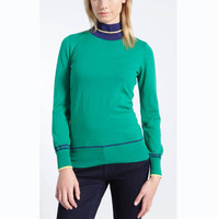 WOMEN'S 100% MERINO WOOL TURTLE NECK KNITTED SWEATER
