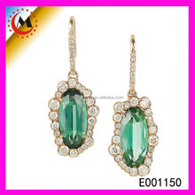 TURQUOISE CABOCHON FACTORY JEWELRY INDIAN JHUMKA EARRING JEWELRY
