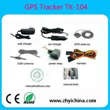 longest standby time waterproof car gps tracker TK104 mobile phone car gps tracker cheap gps vehicle tracking devices