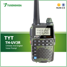 Portable Flashlight Dual band VHF UHF 2W Mini Digital Mobile Transceiver for TYT TH-UV3R