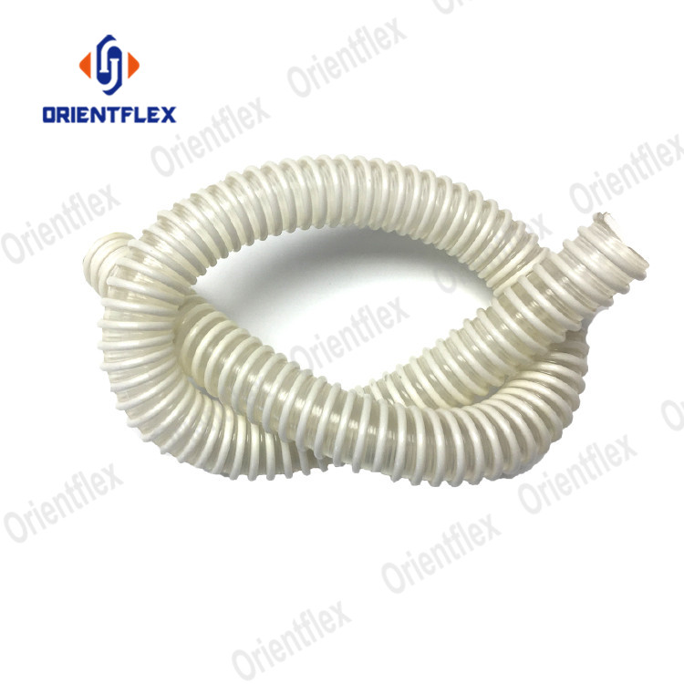 6 inch flexible dust collection polyurethane hose leaf vacuum pu air duct and ducting