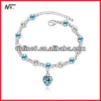 cheap price Crystal Beaded Bangle alloy bracelet,custom bangle wet and wear bracelets
