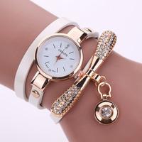 Brand Luxury Crystal Gold Watches Women Fashion Bracelet Quartz Watch