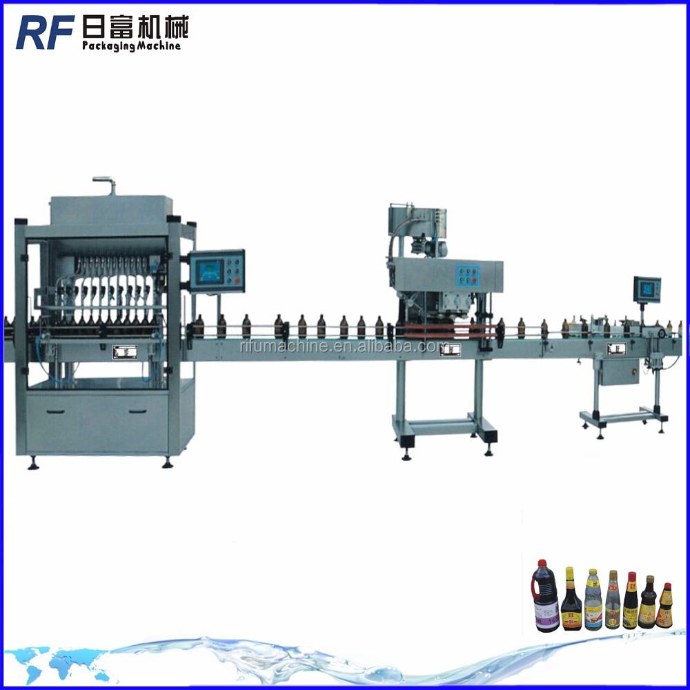 Automatic straight line liquid fillers