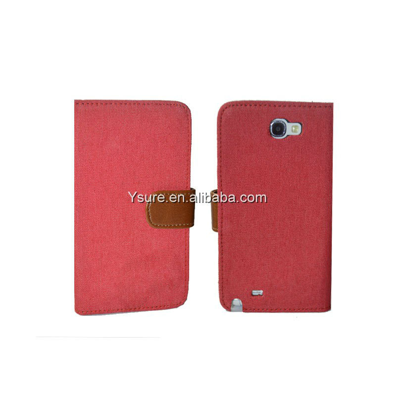 Denim Colorful cowboy red skin hard phone case note 2 for samsung galaxy noteII i9220 /N7100 case