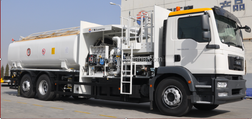 20000L tank capacity of Aircraft refueller truck for air port air plane with chassis type