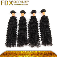 Sewing Weft Tight Curly, Deep Wavy Human Hair, Hair Weave Brazilian Human