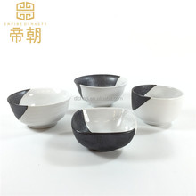Wholesale Chaozhou black and white ceramic dinnerware