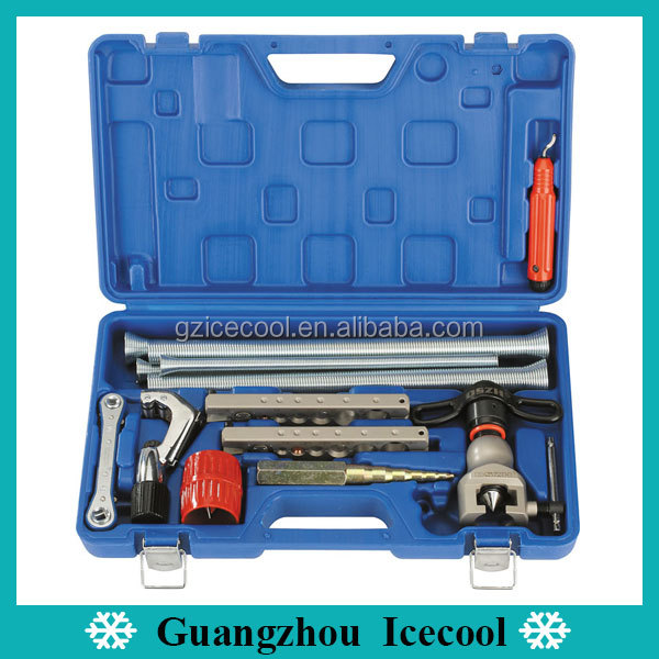 DSZH 13PCS Hand Tools Type Flaring Tool Kit inculde tube cutter/Reamer/Ratchet/handy deburrer/Swaging Punch) WK-813