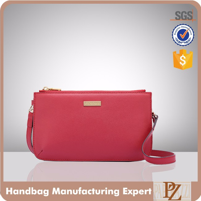 CC2046D-Paparazzi newest design red color PU ladies clutch with long shoulder bags