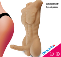 Real Skin Feeling Male Sex doll Artificial Penis Lifelike Dildo Sex Doll for Women with Penis