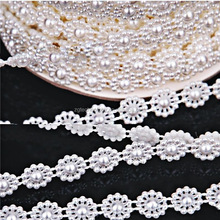 New 5 Meters Fishing Line Artificial Pearls Beads Chain Garland Flowers Wedding Party Decoration Products Supply