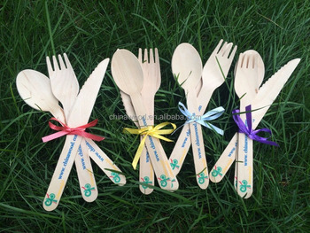 Personalized Printed wooden cutlery