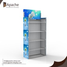 Mild steel & foamed PVC retail display rack , shop sheet display rack for sale