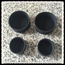 Round protective rubber feet for steel tubes