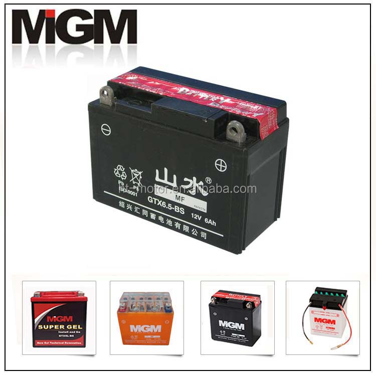 12v 6ah GTX6.5-BS maintenance free MOTORCYCLE battery gel battery sealed battery