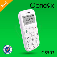 GPS+GSM+GPRS Wireless Network GSM 850/900/1800/1900 MHz Quad-band GPS Senior Phone GS503 Concox