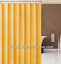 Plain PVC shower curtain with matel rings and 3 megnets