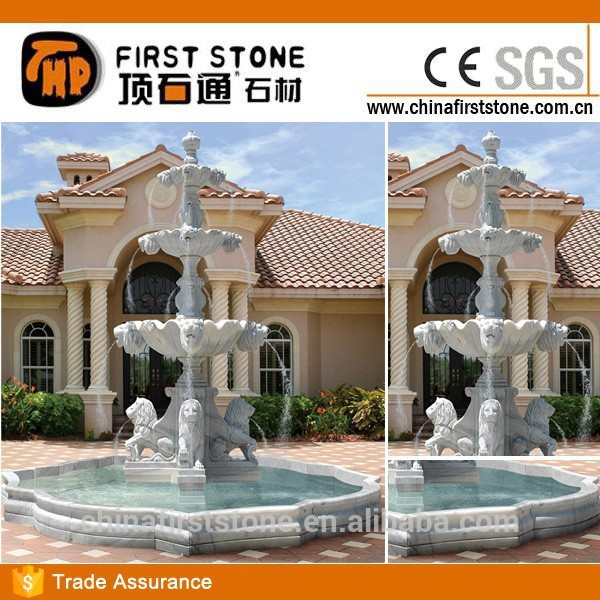 MAF372 Stone Lion 4 Tier Water Fountain