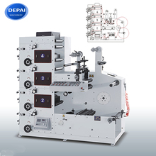 4 Color High Quality Rotary Adhesive Label Flexo Flexographic Printing Machine For Sale