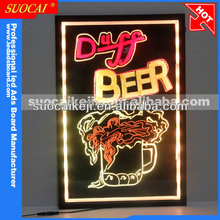 Electronic LED Neon Menu Sign Board, Led Light Blackboard