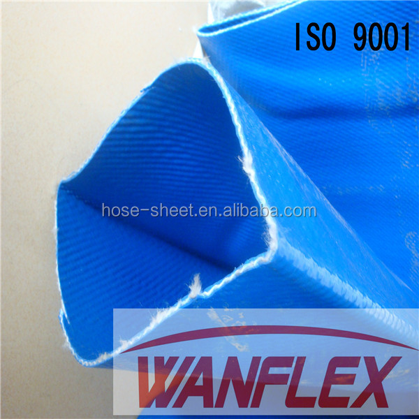 polyester yarn reinforced 4bar PVC layflat hose for irrigation