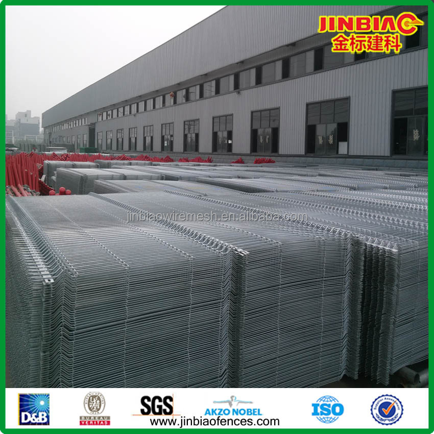 Galvanized and PVC Coated Welded Wire Mesh Fence Panels