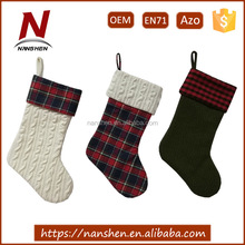 new woolen polyester wholesale bulk christmas stockings