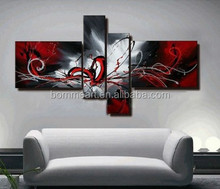 Art gallery supplies Hand Painted Abstract Canvas Painting Oil 4 Panels China Home decor wholesales Modern Fashion Picture