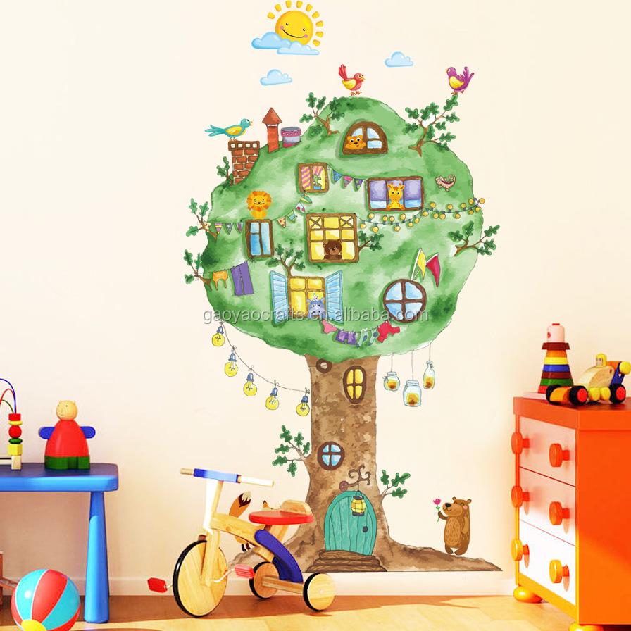 Grossiste d coration chambre b b arbre acheter les for Grossiste decoration interieur