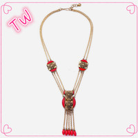 korean hip hop 14k gold chain jewelry brands 2016 popular elegant tassel design 7 layer plastic resin bead necklace for ladies