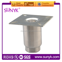 HEAVY DUTY STAINLESS STEEL EQUIPMENT LEGS WITH INTEGRAL FEET stainless steel table leg extenders