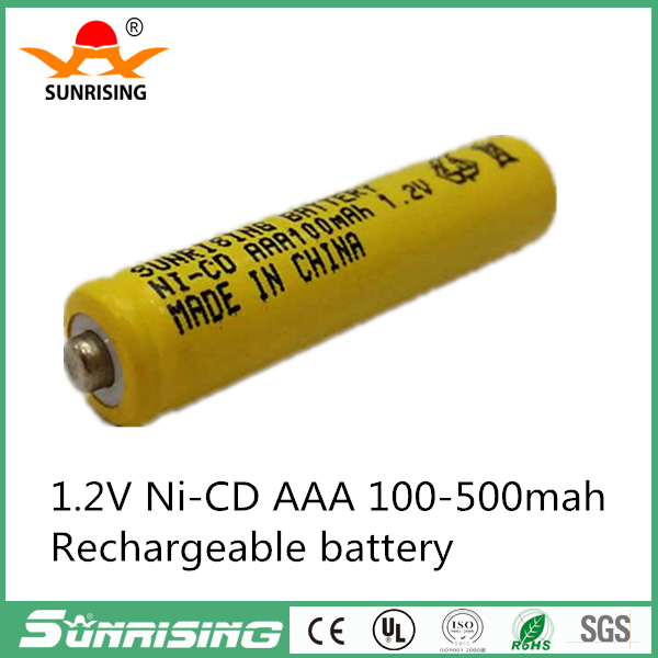 Universal 1.2V 100mAh Ni-CD AAA Battery Rechargeable Batteries For Remote controls, Radios Torches Clocks Toys Yellow