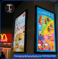 Casting Craftsman manufactory Wall Mounted Advertising LED Light Box, picture frame led light box