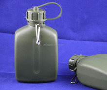 Outdoor 1 liter HDPE plastic material army water bottle