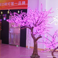 Wireless Christmas decoration rose red artificial cherry blossom tree LED lights for wedding LED fake blossom tree lighting