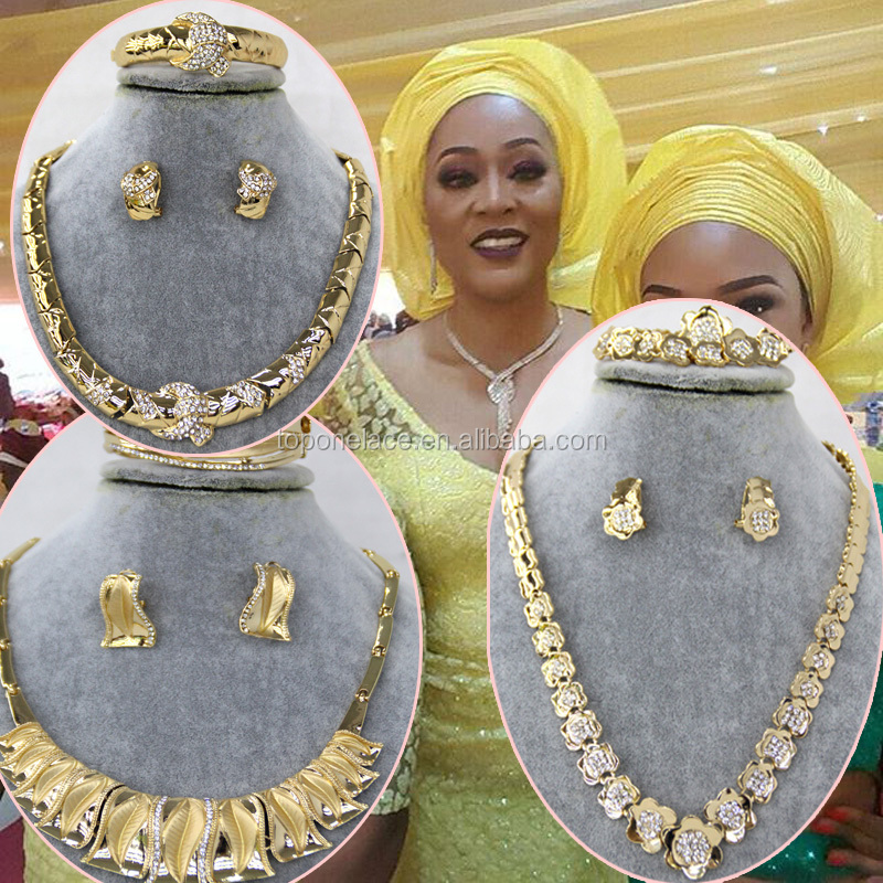 Factory price 18k gold onyx gold jewelry set/african gold jewelry sets/dubai 18 carat gold jewelry sets for Nigeria wedding