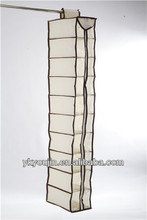 10 Shelf Hanging Shoe Organizer WITH PVC COVER